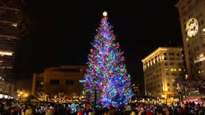 portland oregon christmas tree lighting pioneer