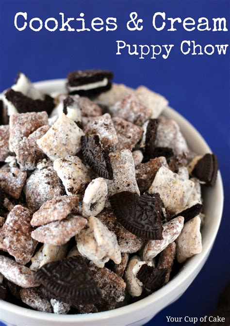 how do you make puppy chow cookies and puppy chow your cup of cake
