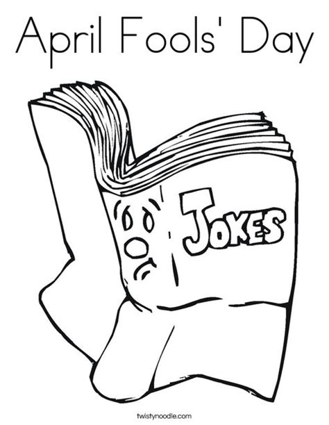 coloring book jokes april fools day coloring page twisty noodle