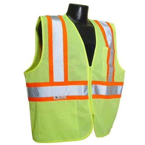 cl l home depot radians cl 2 with contrast green large safety vest sv22