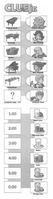 printable clue instructions clue jr refill sheets family nights game movie