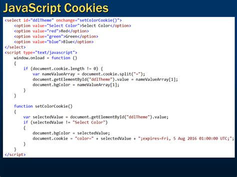 tutorial javascript in html sql server net and c video tutorial javascript cookies