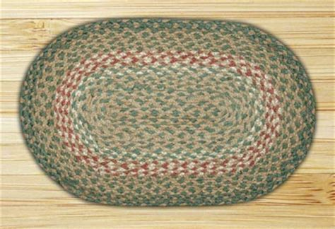 10 x 15 rug burgundy green and burgundy braided tablemat by capitol earth rugs