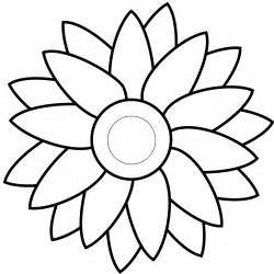 Sunflower Clip Outline clip sunflower outline clipart best
