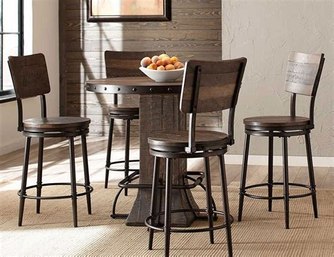 Stool Height For 40 Inch Counter by 40 Inch Counter Dining Set W Swivel Stools