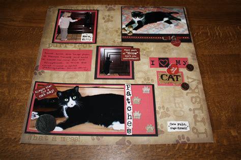 scrapbook layout cat d k crafts scrapbook layout our cat patches