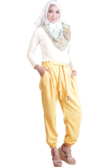Celana Rok Jogger Model Alisa Terbaru Cewewanita All Size Fit To Xl celana jogger wanita shafeeya shasha yellow