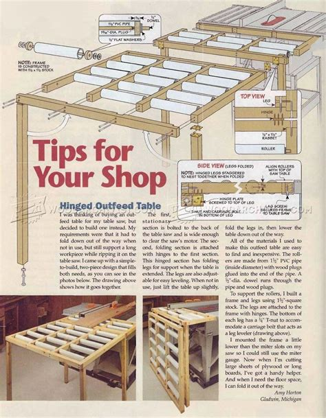 outfeed table plans table saw outfeed table plans woodarchivist