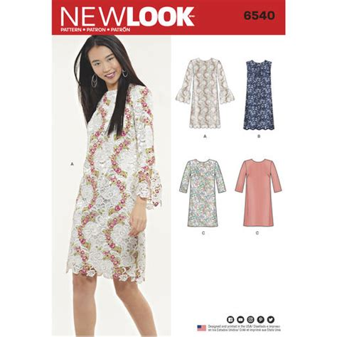 youtube pattern for a shift dress new look pattern 6540 misses shift dress