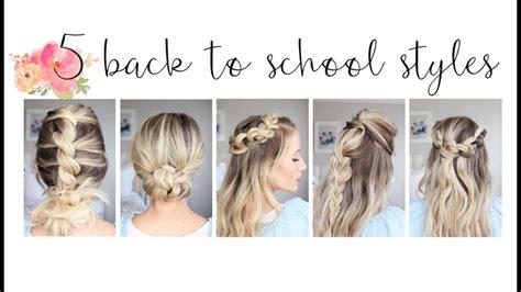 easy   school hairstyles cute girls hairstyles