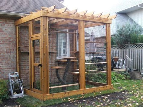 cat patio door of cat enclosure pet living supplies pinterest