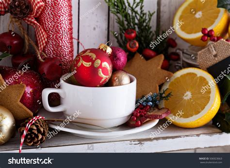 Tea Cup Decorations by Tea Cup Decorations Gingerbread Cookies Oranges Stock
