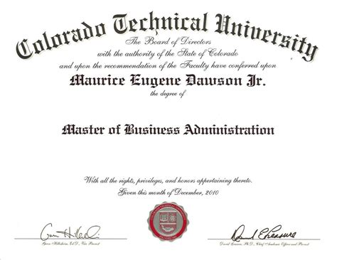 Technical Mba Degree by Pics Of Diplomas