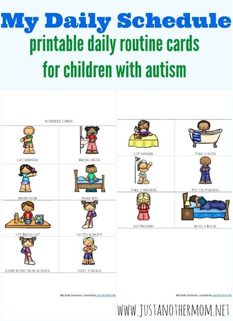 printable daily schedule cards why routines are important for autistic children