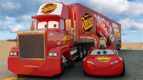 disney pixar cars mack truck lightning mcqueen and friends for songs for children
