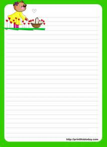 Printable Letter Writing Paper Love Letter Writing Paper