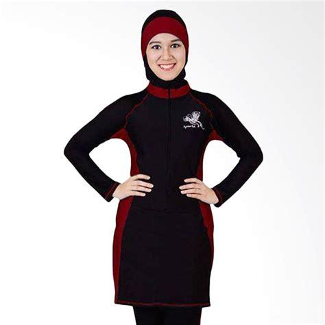 Baju Renang Sporte Jual Sporte Baju Renang Muslimah Hitam Maroon Sp 03