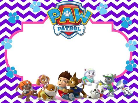 paw patrol birthday card template free image result for paw patrol birthday invitation free