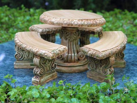 miniature dollhouse fairy garden furniture aged resin