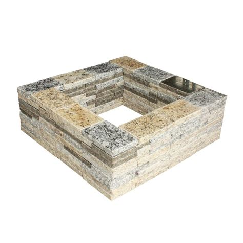44 In Fossill Limestone Round Fire Pit Kit Fsfpl The Square Pit Kit