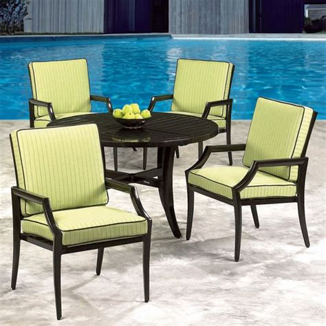 cast classics patio furniture vantage cast aluminum patio dining set by cast classics