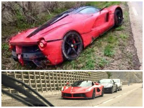 laferrari crash laferrari crashes in france goes off the road autoevolution