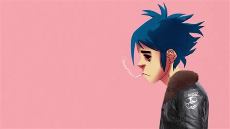 themes gorillaz mobile 9 gorillaz 2d simple background smoking wallpapers hd