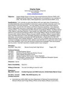 infantrysquad leader resume sample before 2. resume