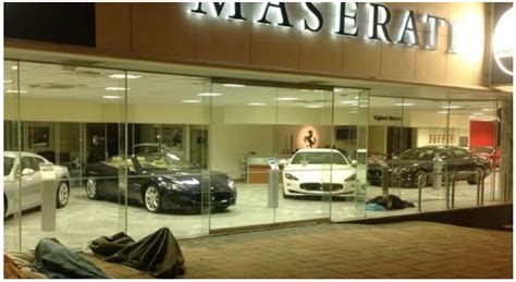 maserati store the living in front of the maserati store