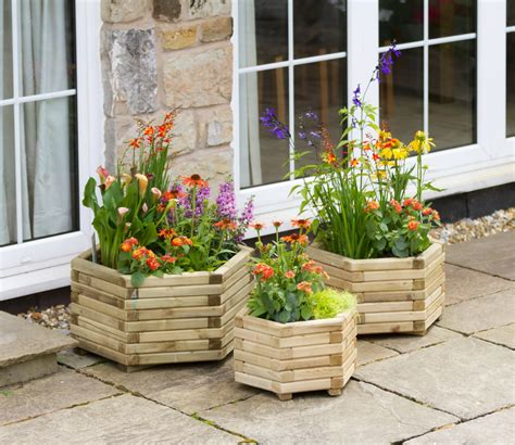 Patio Planters Uk by Marford Hexagonal Planter Set Gardensite Co Uk