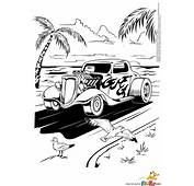 Hot Rod Coloring Page  Free Printable Pages Pinterest
