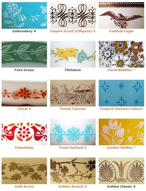 Vintage Pattern Names | vintage pyrex pattern names and exles vintage loves