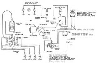 electrical schematic for 12 v ford tractor 8n search 8n ford tractor