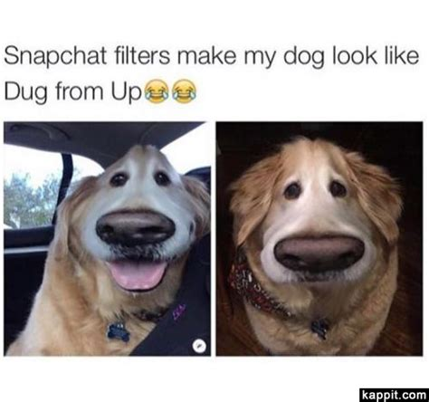 filter captions snapchat filters make my look like dug from up