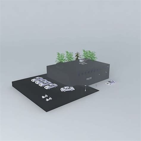 3D Police station   CGTrader