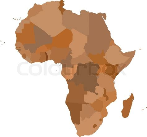 3d africa map vector africa map cartography collection vector illustration