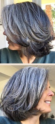 salt and pepper hair styles silver hair streaks silver gray colored hair medium