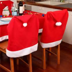4pcs santa hat dining chair covers slipcovers