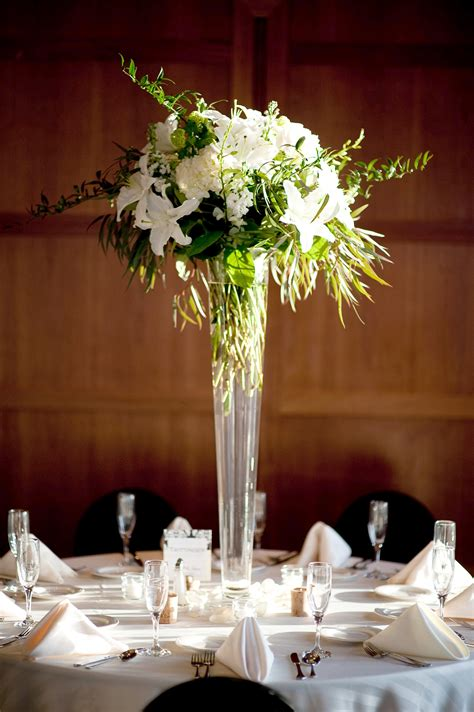 centerpiece for centerpieces featured white and green