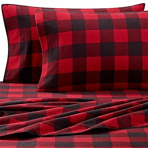 plaid bed sheets buy the seasons collection 174 heavyweight flannel buffalo