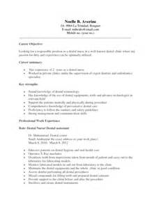 Dental Assistant Objectives by 41 Printable Dental Assistant Resumes For Applications