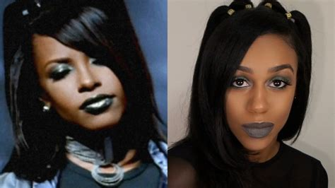 aaliyah rock the boat hair aailyah inspired makeup look are you that somebody youtube