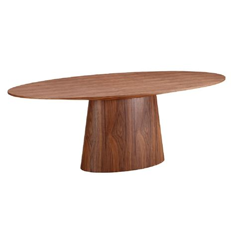 Oval Dining Table Modern Chisolm Modern Oval Dining Table Eurway Furniture