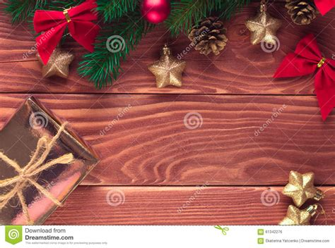 soft board decoration for christmas fir tree with decoration on wooden board soft fo