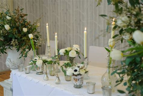 Wedding Ceremony Table by Green Wedding Flowers For Flowers