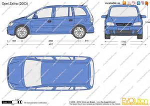 Dimensions Of Vauxhall Zafira The Blueprints Vector Drawing Opel Zafira