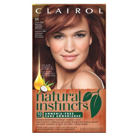 8 best images of clairol permanent hair color chart and also blowout hair braids afwf co clairol instincts semi permanent hair color bright auburn brown 6r walmart