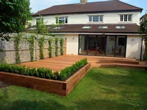 Raised Bed On Patio by Balau Decking Archives London Garden Blog