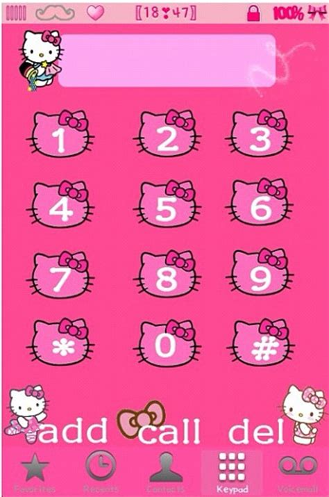 theme hello kitty iphone 6 cute iphone themes hello kitty dialer