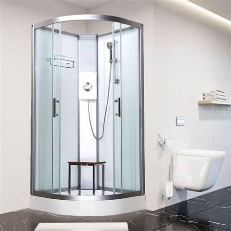 self contained bathroom vidalux pure e 800mm x 800mm quadrant hydro shower cubicle
